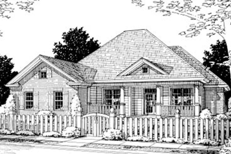 Architectural House Design - Traditional Exterior - Front Elevation Plan #20-374