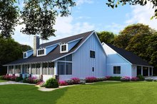 Home Plan Design - Farmhouse Exterior - Rear Elevation Plan #923-104