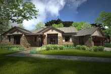 Dream House Plan - Ranch Exterior - Front Elevation Plan #120-194