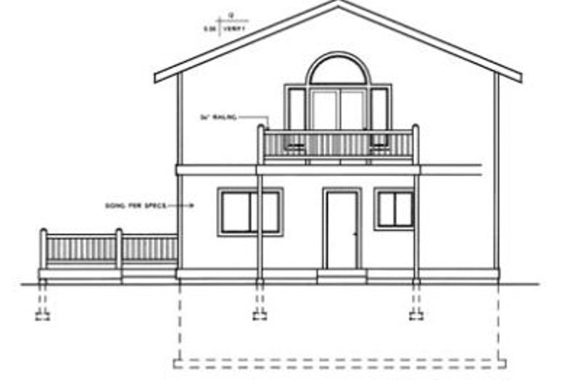 Modern Exterior - Rear Elevation Plan #96-217 - Houseplans.com