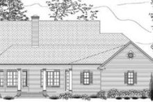Dream House Plan - Southern Exterior - Rear Elevation Plan #406-102
