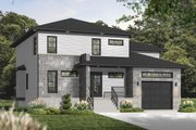 Contemporary Style House Plan - 3 Beds 2.5 Baths 2072 Sq/Ft Plan #23-2545 Exterior - Front Elevation