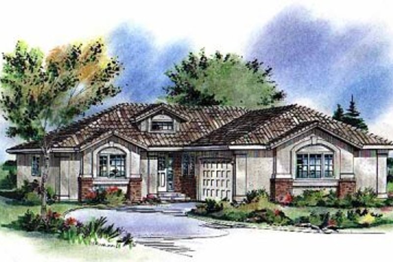 House Blueprint - Traditional Exterior - Front Elevation Plan #18-199