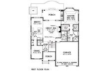 Traditional Floor Plan - Main Floor Plan Plan #929-45