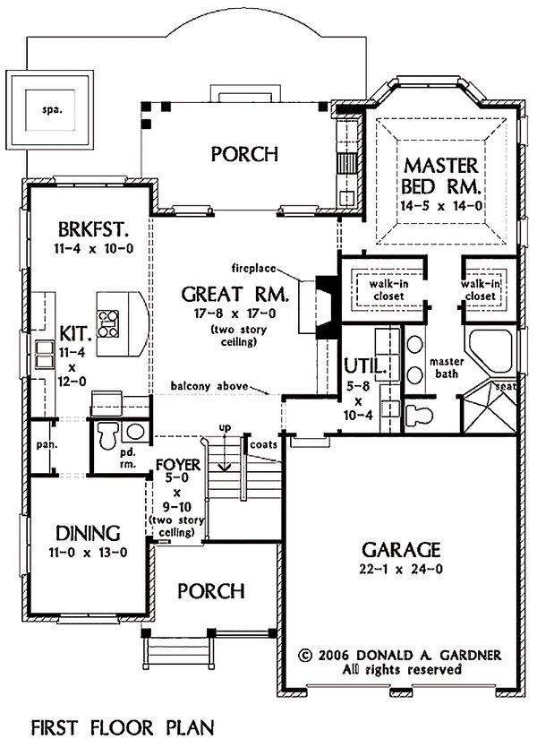 Traditional Floor Plan - Main Floor Plan #929-45