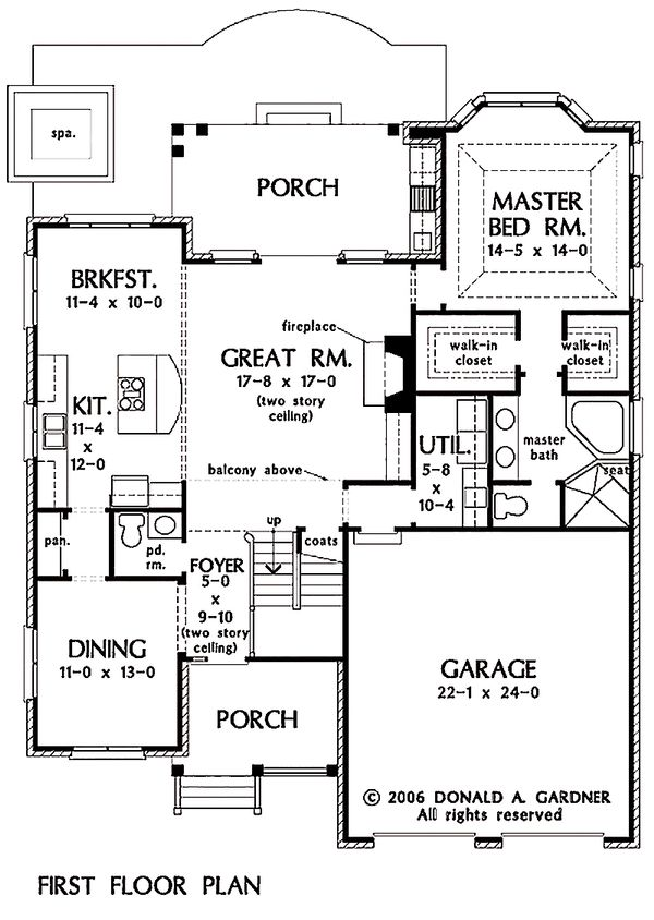 Traditional Floor Plan - Main Floor Plan Plan #929-45