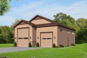 Dream House Plan - Mediterranean Exterior - Front Elevation Plan #932-208