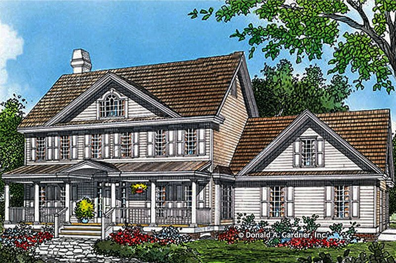 Classical Style House Plan - 4 Beds 2.5 Baths 2475 Sq/Ft Plan #929-383 Exterior - Front Elevation
