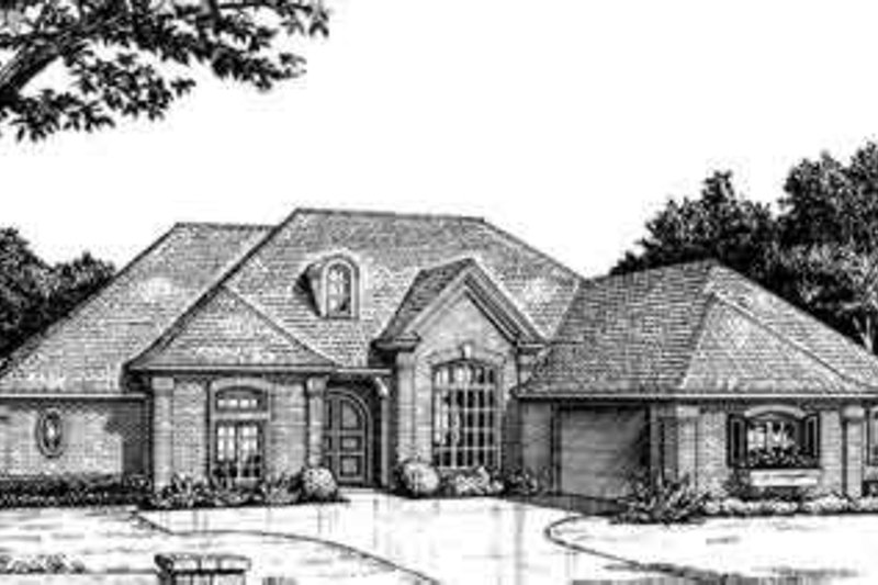 European Style House Plan - 3 Beds 2.5 Baths 2257 Sq/Ft Plan #310-245 Exterior - Front Elevation