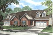 Traditional Style House Plan - 3 Beds 2 Baths 4468 Sq/Ft Plan #17-2029 Exterior - Front Elevation