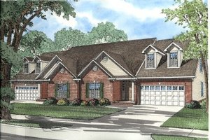 Traditional Exterior - Front Elevation Plan #17-2029