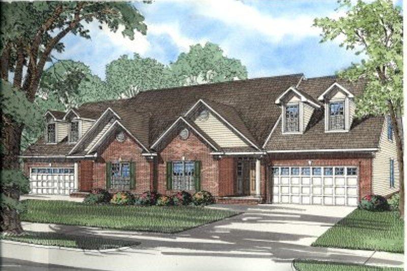 Architectural House Design - Traditional Exterior - Front Elevation Plan #17-2029