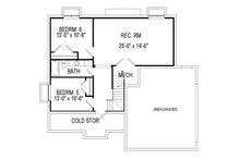Traditional Floor Plan - Lower Floor Plan Plan #920-27