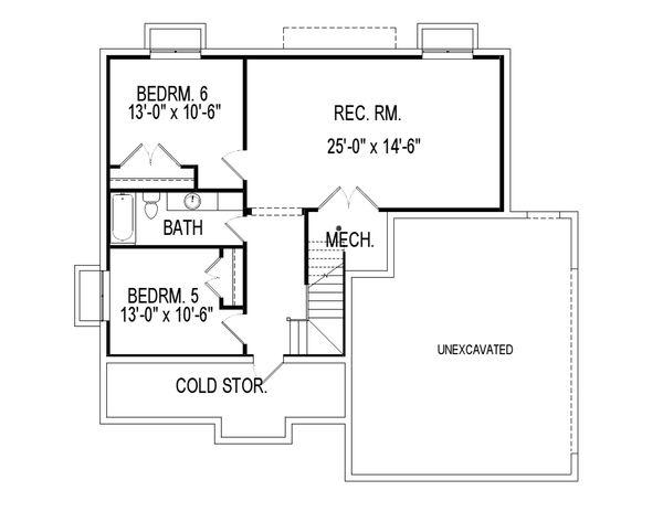 House Plan Design - Traditional Floor Plan - Lower Floor Plan #920-27
