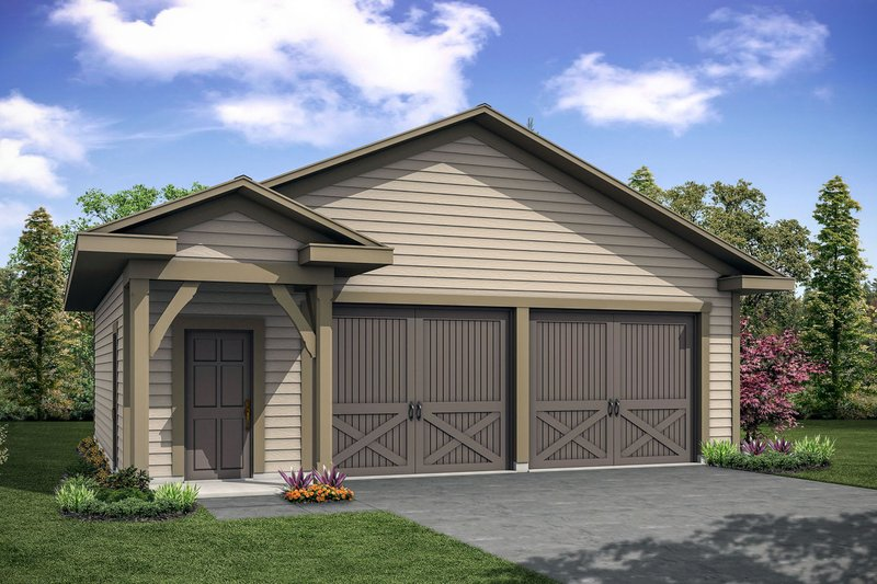 Cottage Exterior - Front Elevation Plan #124-1101