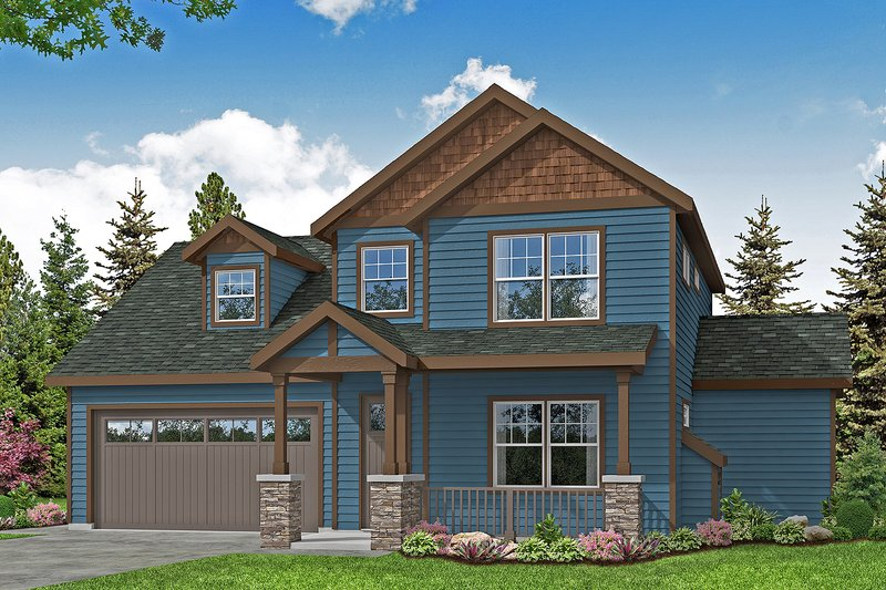 Architectural House Design - Country Exterior - Front Elevation Plan #124-1215