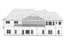 Architectural House Design - Craftsman Exterior - Rear Elevation Plan #437-115
