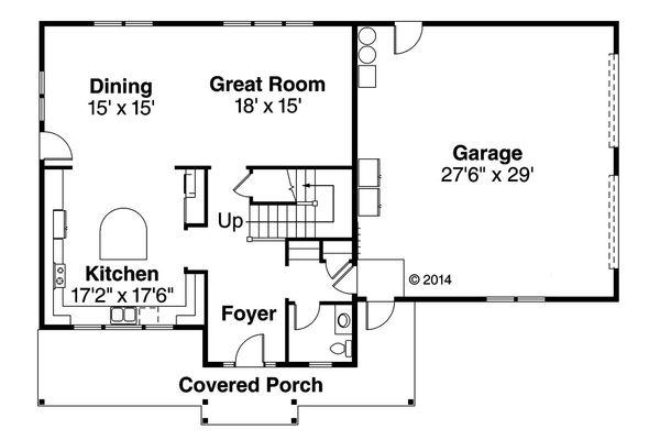Country Floor Plan - Main Floor Plan Plan #124-968