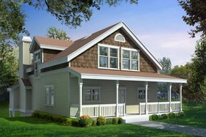 Bungalow Exterior - Front Elevation Plan #100-213