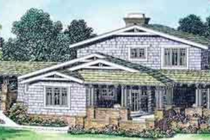 Bungalow Exterior - Front Elevation Plan #72-463 - Houseplans.com