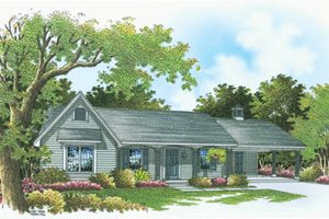 Ranch Exterior - Front Elevation Plan #45-108