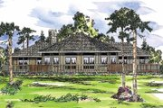 Contemporary Style House Plan - 3 Beds 2 Baths 1975 Sq/Ft Plan #124-162 Exterior - Front Elevation