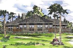 Contemporary Exterior - Front Elevation Plan #124-162