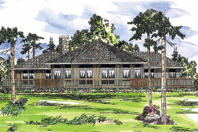 Home Plan - Contemporary Exterior - Front Elevation Plan #124-162