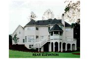 European Style House Plan - 4 Beds 3.5 Baths 4271 Sq/Ft Plan #429-10 Exterior - Rear Elevation