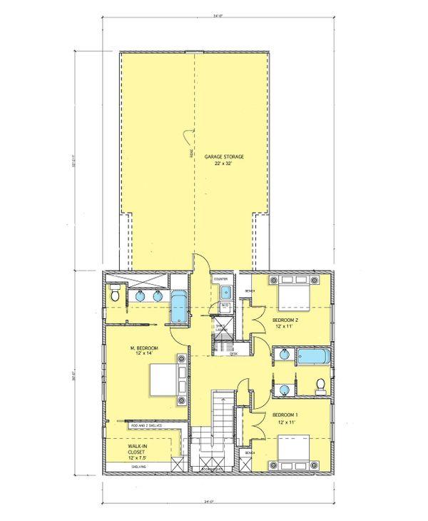Modern Floor Plan - Upper Floor Plan #573-1