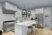 Craftsman Style House Plan - 3 Beds 2.5 Baths 2438 Sq/Ft Plan #1060-65 Interior - Kitchen