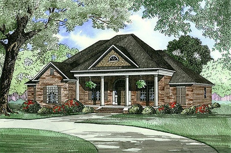 Architectural House Design - Classical Exterior - Front Elevation Plan #17-1153