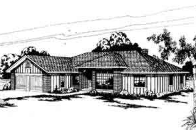 Modern Exterior - Front Elevation Plan #124-135