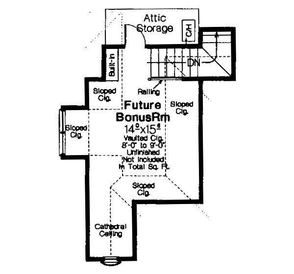 European Floor Plan - Other Floor Plan Plan #310-267