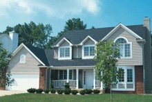 Home Plan Design - Traditional Exterior - Front Elevation Plan #20-215