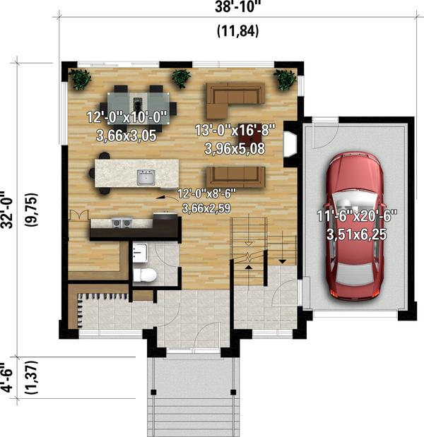 Home Plan - Contemporary Floor Plan - Main Floor Plan #25-4889