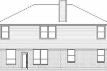 House Design - Traditional Exterior - Rear Elevation Plan #84-144