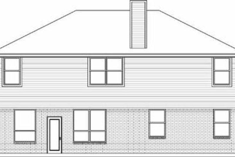 Traditional Exterior - Rear Elevation Plan #84-144 - Houseplans.com