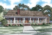 Southern Style House Plan - 3 Beds 2 Baths 2247 Sq/Ft Plan #17-2473 Exterior - Front Elevation