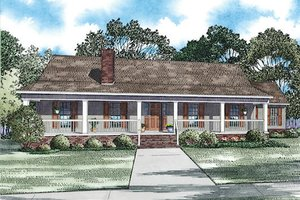 Southern Exterior - Front Elevation Plan #17-2473