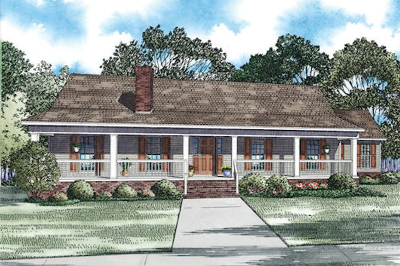 House Plan Design - Southern Exterior - Front Elevation Plan #17-2473