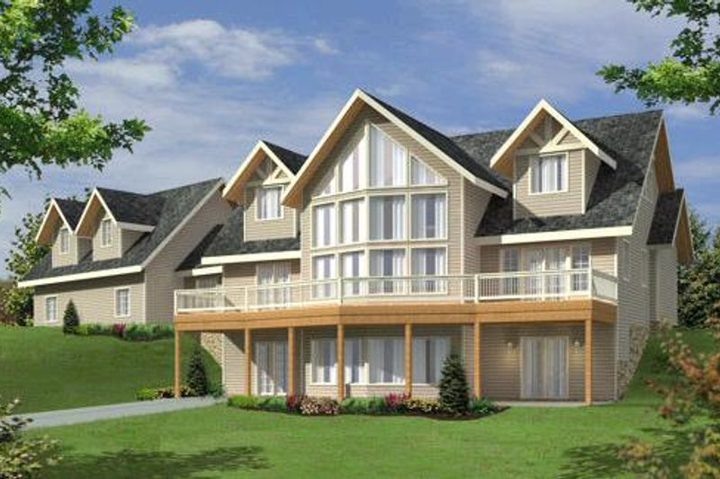 Traditional Exterior - Front Elevation Plan #117-579 - Houseplans.com