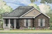 Traditional Style House Plan - 3 Beds 2 Baths 1240 Sq/Ft Plan #424-256 Exterior - Front Elevation