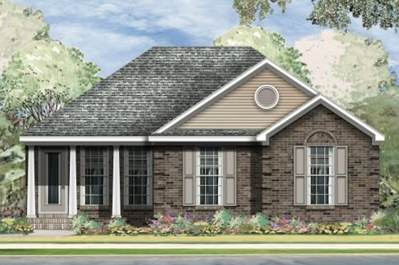 Traditional Exterior - Front Elevation Plan #424-256
