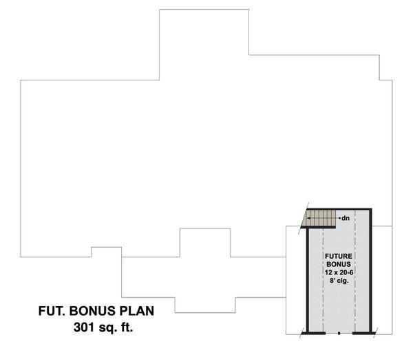 Farmhouse Floor Plan - Upper Floor Plan #51-1170