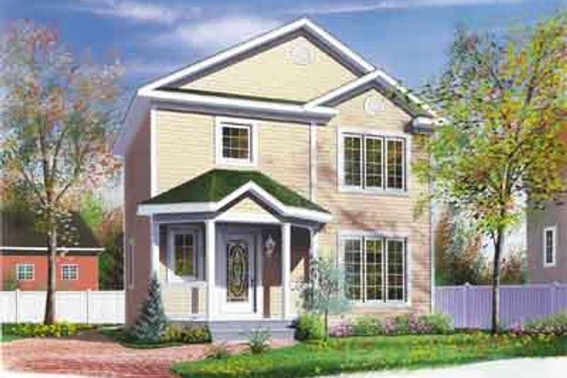 House Plan Design - European Exterior - Front Elevation Plan #23-500