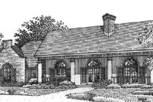 Southern Exterior - Front Elevation Plan #320-139