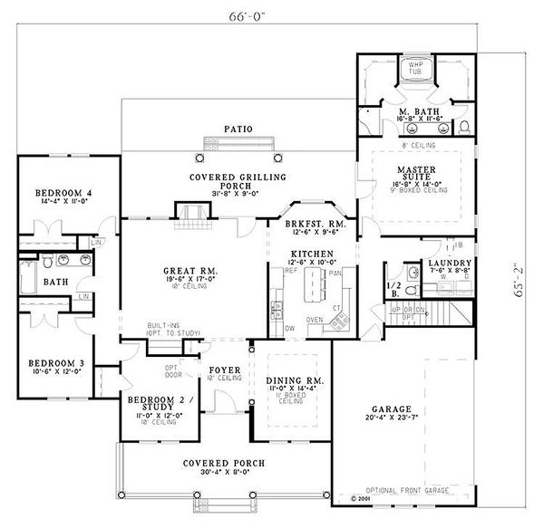 Country Floor Plan - Main Floor Plan Plan #17-614