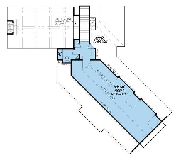 Traditional Floor Plan - Upper Floor Plan Plan #923-29