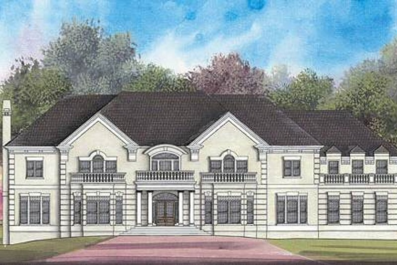 Classical Exterior - Front Elevation Plan #119-324